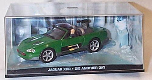 james bond 007 die another day green jaguar XKR film scene car 1.43 scale diecast model by universal hobby Jaguar Xkr James Bond
