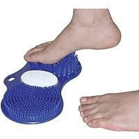 Aidapt - Cepillo exfoliante para pies, color azul