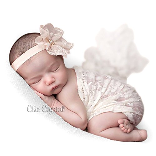 1010 Lace (Nude lace baby headband (3-6months, nude))