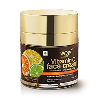 WOW Skin Science Vitamin C Face Cream - Oil Free, Quick Absorbing - For All Skin Types - No Parabens, Silicones, Color, Mineral Oil & Synthetic Fragrance, 50 ml