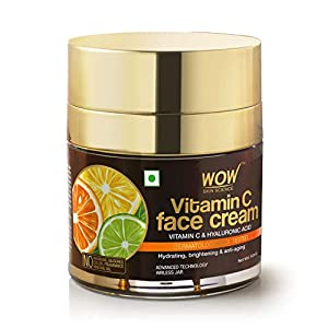 WOW Skin Science Vitamin C Face Cream – Oil Free, Quick Absorbing – For All Skin Types – No Parabens, Silicones, Color…