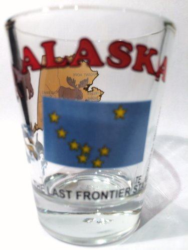 Alaska The Last Frontier State All-American Collection Shot Glass - Alaska Glass