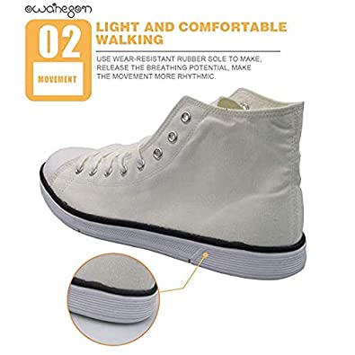 Canvas High Top Sneaker Casual Skate Shoe Mens Womens High-Five Aliens UFO Kidnapping Cow