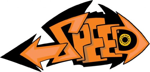 """10"""" SPEED orange Graffiti style art. Printed vinyl decal sticker for any smooth surface such as windows bumpers laptops or any smooth surface."""