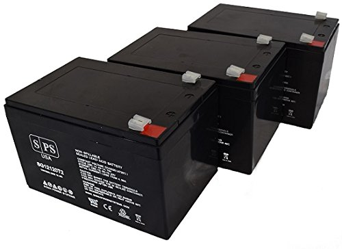 Replacement Battery Drive Medical Design Mini Phantom 12V 12Ah Wheelchair Battery (SPS Brand ) - 3 (Drive Phantom 3 Wheel Scooter)