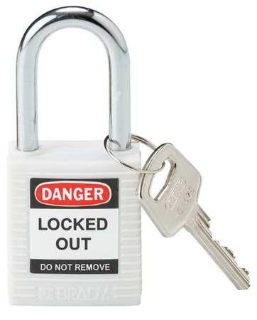 Brady 143123 Safety Padlock, White by Brady