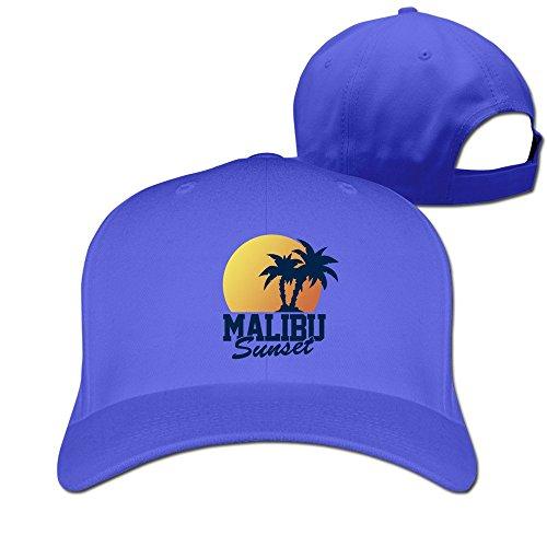 Men Vintage Malibu Sunset Adjustable Fitted Hat Baseball Hat]()