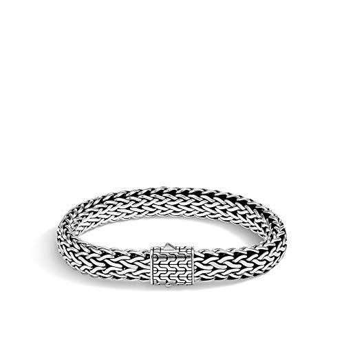 John Hardy Men's Classic Chain Silver Large Flat Chain Bracelet, Size M