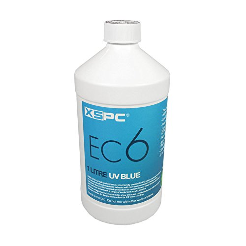 XSPC EC6 High Performance Premix Coolant, Translucent, 1000 mL, Blue UV