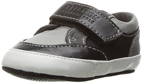 Kenneth Cole REACTION Boys' Baby Danny Loafer, Black/Grey, 2 M US -