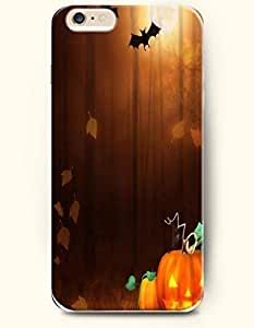 SevenArc Apple iPhone 6 Plus case 5.5 inches - Happy Halloween Yellow Pumpkin Lantern Bat Flying Leaves Falling by supermalls