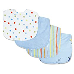 Trend Lab Dr. Seuss 4 Piece Bib Set, One Fish Two Fish
