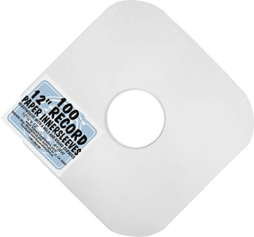 (100) Archival Quality Acid-Free Heavyweight Paper Inner Sleeves for 12 Vinyl Record Albums #12IW