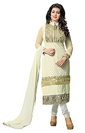 736e49cf7d Image Unavailable. Image not available for. Colour: Khushali Women Georette  Karachi Unstitched Salwar Suit ...