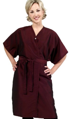 Set of 6 Salon Client Gowns / Client Smocks / Wraps In BLACK Silkarah ''BEST In Industry'' (Save $40) From ProHairTools by The Cape Company