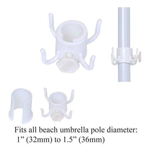 Umbrella Hook for Hanging Towels / Bag / Camera - pole diameter 1 to 1.5 (Camera Umbrella)