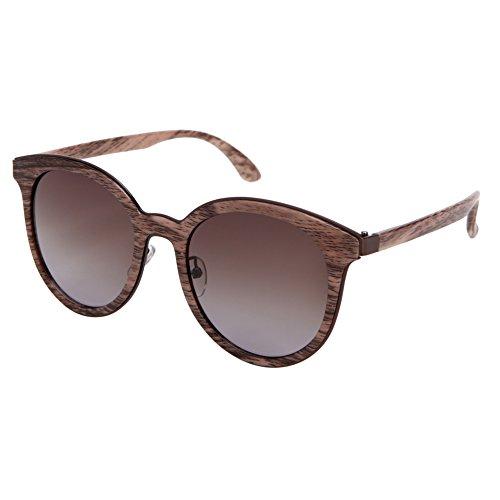 Solarfun wooden pattern Organizer frame Shades Polarized Sunglasses for Women, 100% UV - Shades Organizer