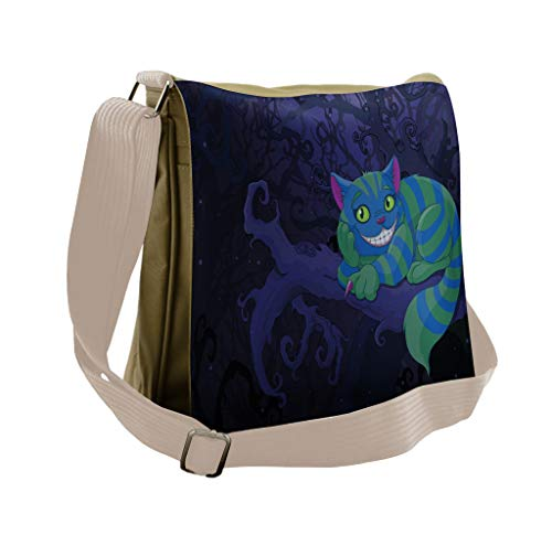 d9f81343a7fc Ladies Sling Bag Shoulder Cross Body Bag with Alice in Wonderland ...