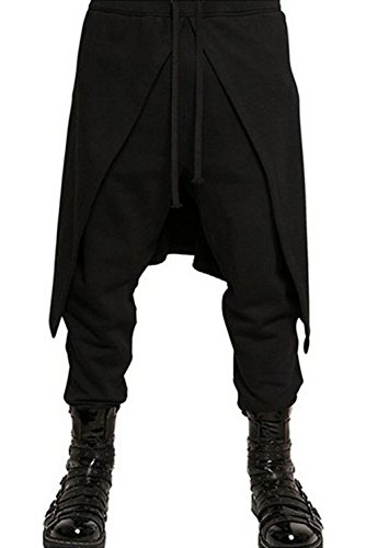 (boomtrader Steampunk Pants Men Punk Style Elastic Waist Hip Hop Dance Sport Pants)