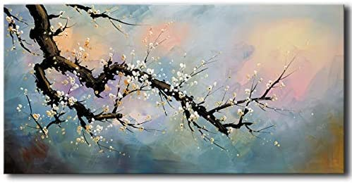 [해외]Hand Painted Plum Blossom Wall Art Flower Oil Painting on Canvas / Hand Painted Plum Blossom Wall Art Flower Oil Painting on Canvas