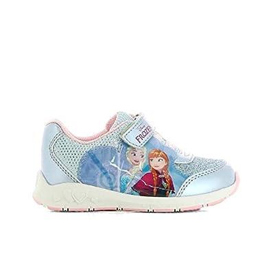 66eba9e3c71d5 Générique La Reine des neiges Baskets Chaussures Enfant Fille - Bleu et Rose  pâle 26