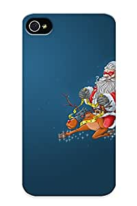 Design High Impact Dirt/shock Proof Case Cover For Iphone 4/4s (holidays Christmas Seasonal Festive )