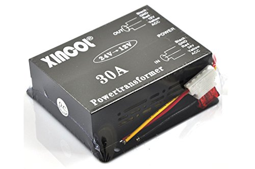 xincol-30a-360w-volts-reducer-dcdc-car-truck-dc-24v-to-dc12v-buck-converter-step-down-transformer-with-built-in-fan-full-protections-inside-memory-ram-and-inline-fuse