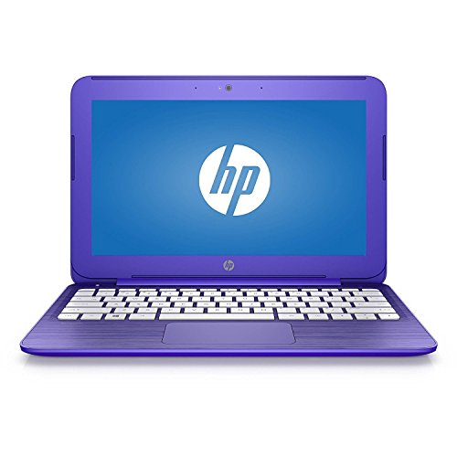 2017 HP Stream 11 11.6 inch Premium Flagship Laptop Computer, Intel Celeron N3060 1.6GHz, 4GB RAM, 32GB eMMC drive, 802.11ac WiFi, USB 3.1 port, Windows 10 Home, Purple (Certified Refurbished)