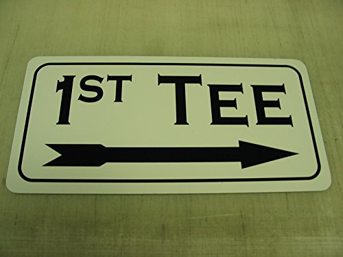 1ST TEE Right Arrow Metal Sign Golf Course Green Country Club Driving (Golf Tee Signs)