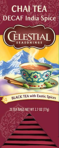 Celestial Seasonings Chai Tea, Decaf India Spice, 25 Count (Pack of 6)