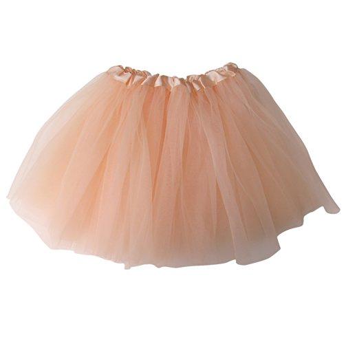So Sydney Ballerina Basic Girls Ballet Dance Dress-Up Princess Fairy Costume Dance Recital Tutu (Peach)