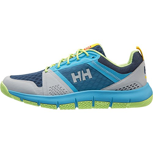 Helly Hansen 2018 Skagen F-1 Offshore Boat Shoe Para Mujer - 11313_930 Light Grey / Aqua Blue