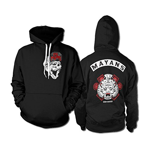 Officially Licensed Merchandise Los Mayans Hoodie (Black), Large