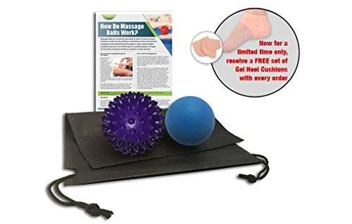Massage Ball, Lacrosse & Spiky – Best Stimulating Deep Tissue Body Massage for Back, Neck & Shoulder – Great for Pain, Muscle Knots & Stress Relief, Physical Therapy, Yoga & Reflexology Balls -2 Balls