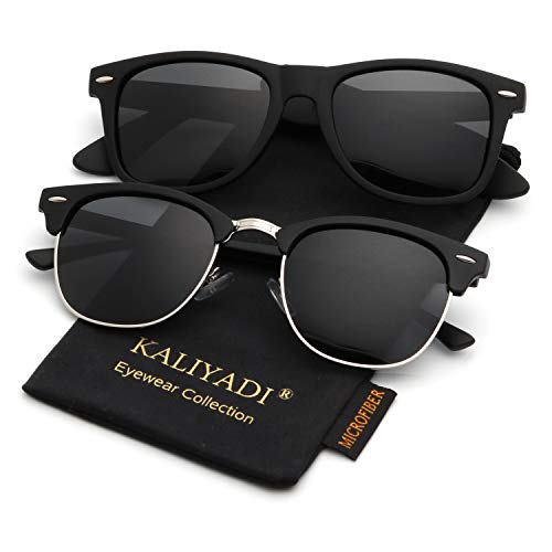 Polarized Sunglasses for Men and Women | Semi-Rimless Frame | Driving Sun glasses | 100% UV Blocking