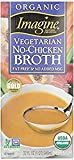 Imagine Organic Vegetable No-Chicken Broth Gluten Free 32 Oz. Pack Of 3.