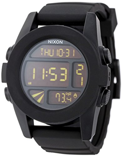 Polycarbonate Lcd (Nixon Unit A197000-00. Black Men's Digital Watch. (44mm. Digital LCD Watch Face. 24mm Black Band))