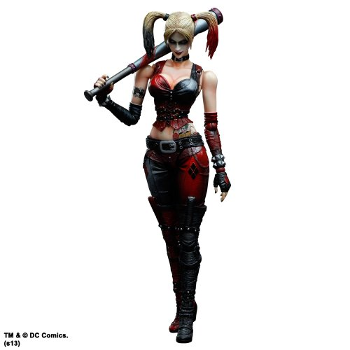 Square Enix Play Arts Kai Harley Quinn ''Batman Arkham City'' Action Figure by Square Enix