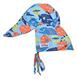 Flap Happy Baby Boys UPF 50+ The Original Hat with Ties, Fish Frenzy, XL