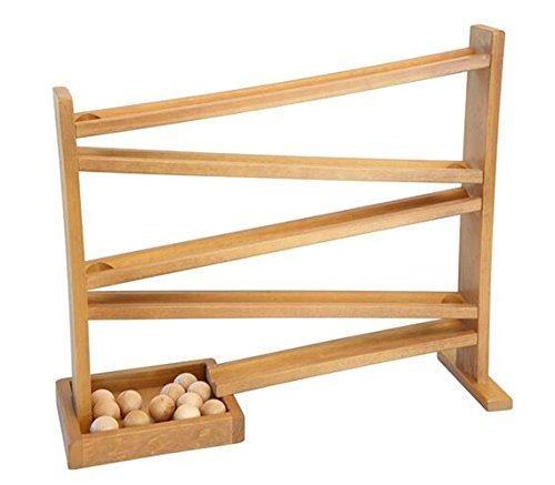 CLASSIC Ball Roller Wood Track Toy with Wooden Balls