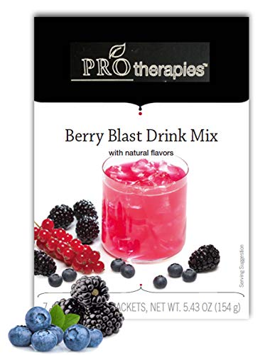 High Protein Crystal Drink Mix 15g - Berry Blast, Low Carb Nutritional Supplement Crystal Protein Pods (7 Servings/Pack)