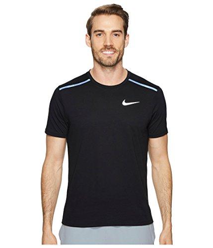 (Nike Men's Rise 365 Breathe Running Top-Black-Medium)