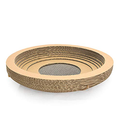 M MiaoMiao Pet Nest Corrugated Paper Cat Nest Resistant To Catch Wear Resistant Good Pressure Resistance (Size   M)