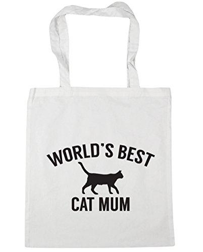 Tote 10 HippoWarehouse best World's Gym Bag 42cm mum White x38cm Shopping cat Beach litres SPIZPqw