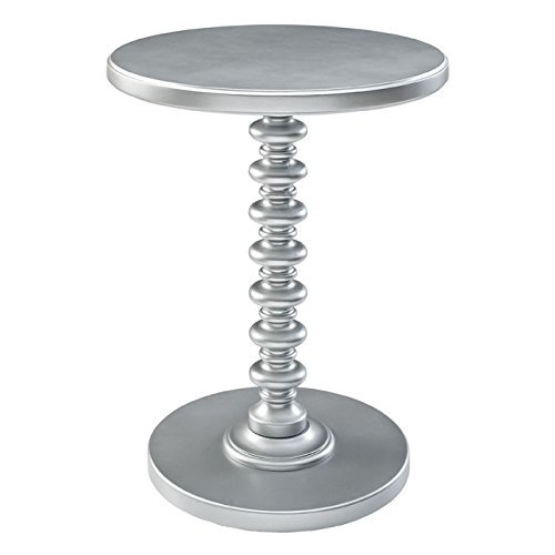 Powell's Furniture 145-269 Powell Round Spindle, Silver Table,