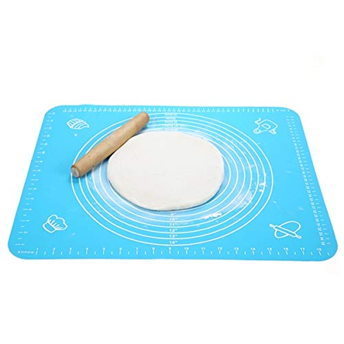 Monrocco Silicone Baking Mat for Pastry Rolling with Measurements, Liner Heat Resistance Table Placemat Pad Pastry Board, Reusable Non-Stick Silicone Baking Mat for Housewife, Cooking Enthusiasts