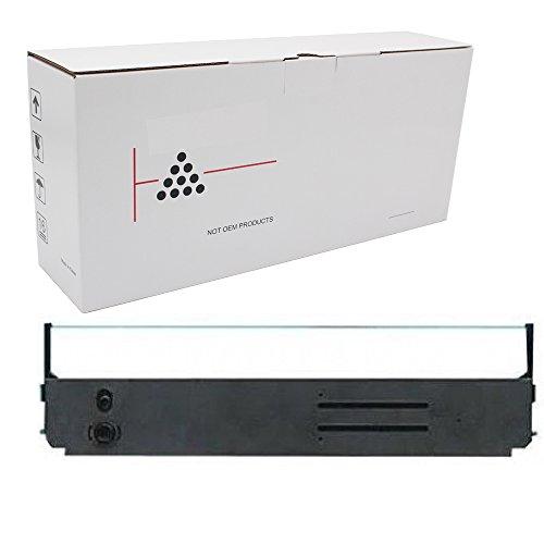 Hehua 52103601 Black Ribbon Cartridge OKI 52103601 Ink Ribbon Replacement ML-393, 393C(1 Pack Black)