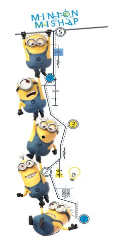 Roommates Rmk2107Gc Despicable Me 2 Growth Chart Peel And St