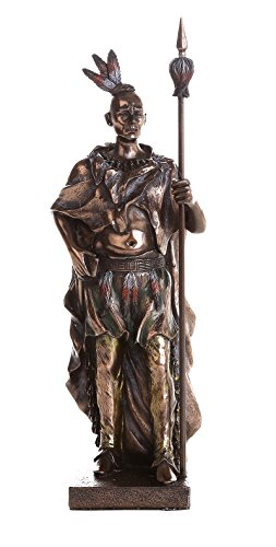 Indian Warrior with Traditional Costume and Weapon Collectible Figurine 9 Inch Tall (Warrior Indian Costume)