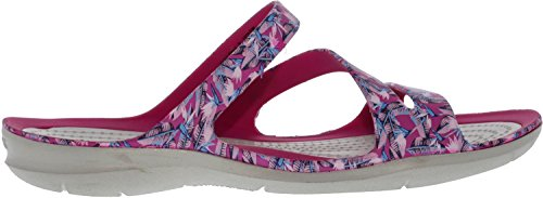 Swiftwater Crocs Graphic Women's Pink Sandal Candy 5HxOwO